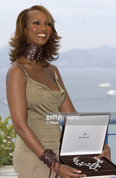 De Beers announces partnership with Iman, acclaimed supermodel and business woman at the 55th Cannes Film Festival. Iman's woven Aubergine leather...