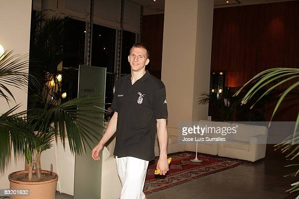 de Besiktas Cola Turka Sinan Guler arriving to hotel Le Meridien in the ULEB Cup Final 8 will play at the Palavela on April 8 2008 in Turin Italy
