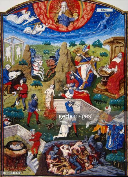 De Casibus Virorum Illustrium 13551374 by Giovanni Boccaccio translated into french by Laurent de Premierfait Illuminated by Master Dunois Scene of...