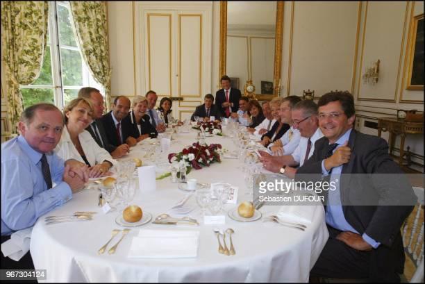 Francois Goulard, Marie Anne Montchamp, Renaud Donnieu de Vabres, Eric Woerth, Catherine Vautrin, Marc-Phillippe Daubresse, Nicole Guedj, Frederic de...