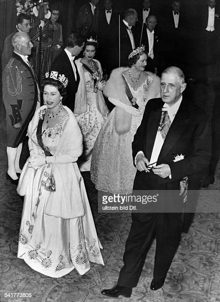 De Gaulle Charles *22111890Politiker General FrankreichStaatspraesident von 19591969 Staatsbesuch in GrossbritannienBesuch eines Galaballetts im...