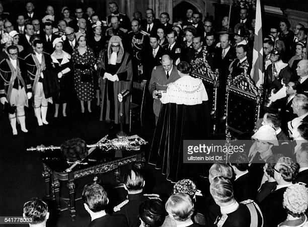 De Gaulle, Charles *22.11.1890-+Politiker, General, FrankreichStaatspraesident von 1959-1969- Staatsbesuch in Grossbritannien: Besuch in der Londoner...