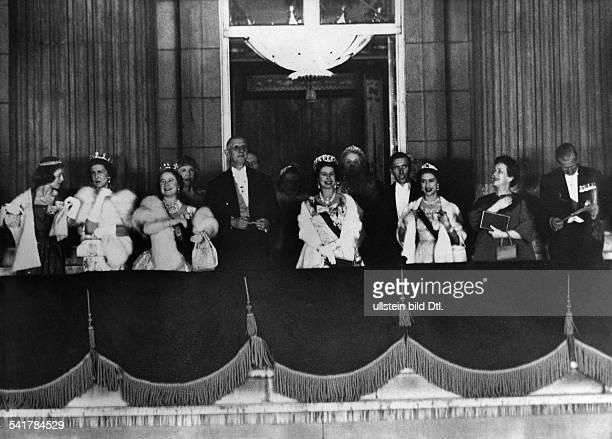 De Gaulle Charles *22111890Politiker General FrankreichStaatspraesident von 19591969 Staatsbesuch in Grossbritannien nach einem Galadiner zu Ehren...