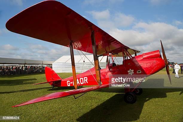 De Havilland 60GM Gipsy Moth at The Goodwood Revival Meeting 14th Sept 2013