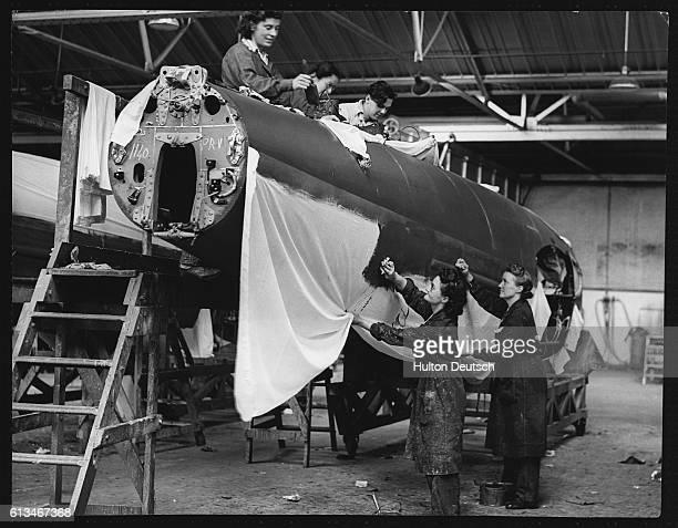 De Havilland Mosquito Under Construction.
