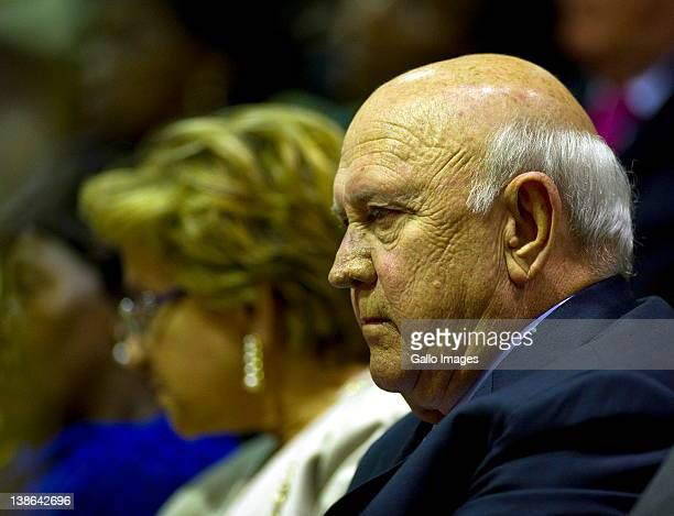FW de Klerk and his wife Elita Georgiades at the State of the Nation Address at the opening of Parliament in Cape Town South Africa on 9 February...