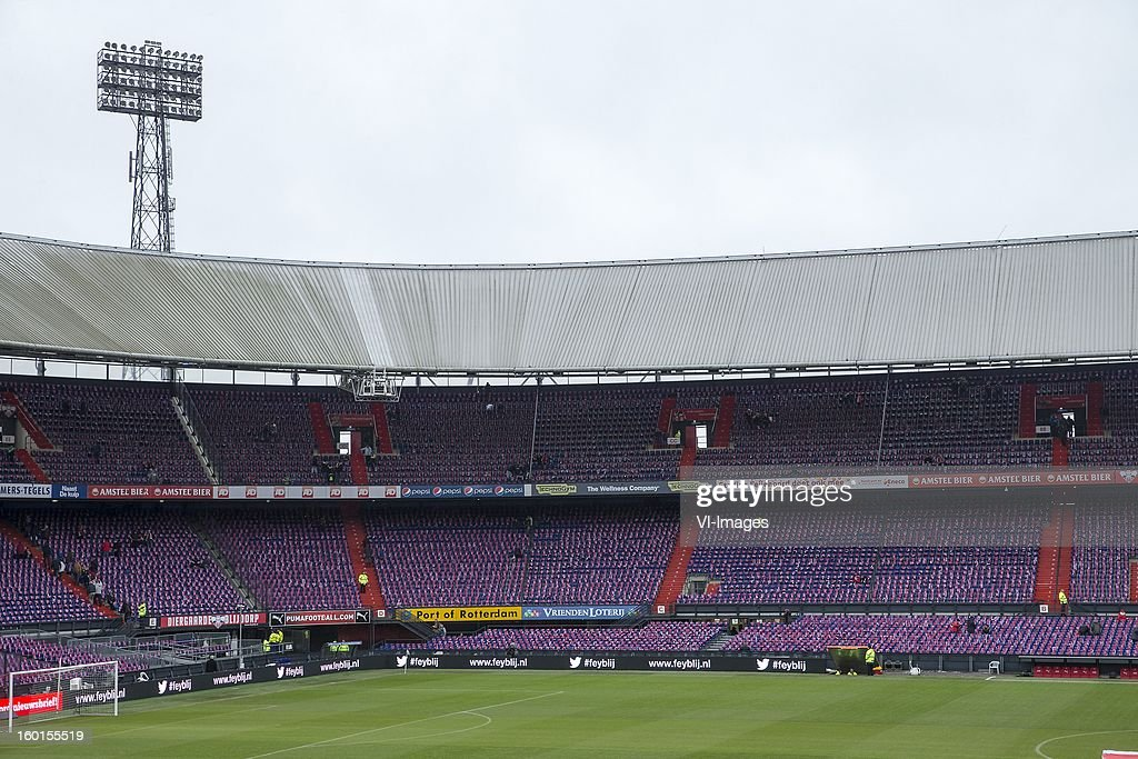 De Kuip during the Dutch Eredivise match between Feyenoord and FC Twente at stadium De Kuip on January 27, 2013 in Rotterdam, The Netherlands.