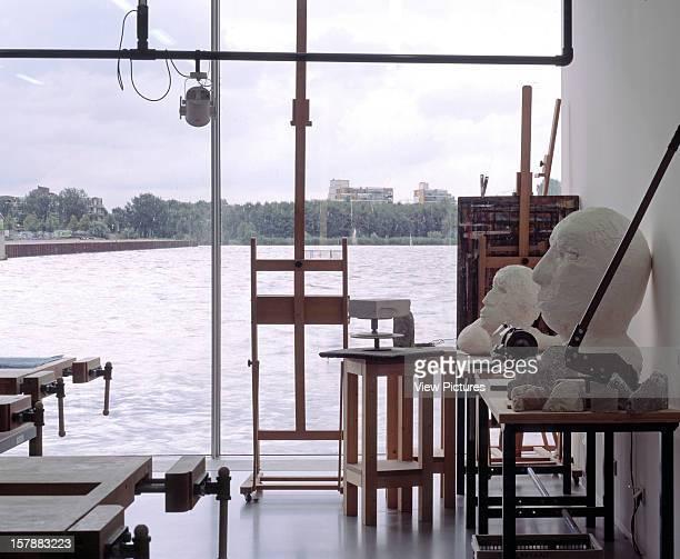 De Kunstlinie, Almere, Netherlands, Architect Sanaa Kazuyo Sejima + Ryue Nishizawa De Kunstlinie Interior View - Art School Classroom.
