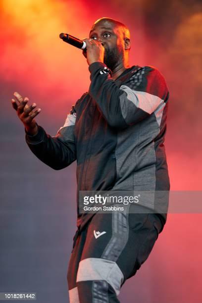 BIDDINGHUIZEN NETHERLANDS AUGUST 17 De La Soul perform live at Lowlands festival 2018 on August 17 2018 in Biddinghuizen Netherlands
