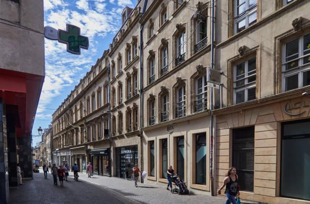 De La Tete D'or street in downtown Metz, France.