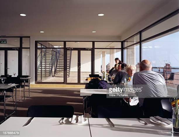 De La Warr Pavilion, Bexhill On Sea, United Kingdom, Architect Erich Mendelsohn De La Warr Pavilion Resturant To Sun Terrace.