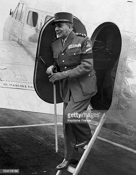De Lattre De Tassigny French Commander In Chief In Indochina At His Arrival In London