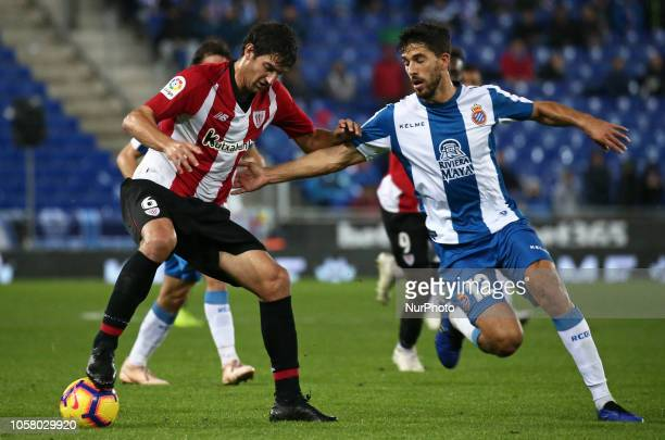 De Marcos Didac Vila during the match between RCD Espanyol and Athletic Club Bilbao corresponding to the week 11 of que spanish league played at the...