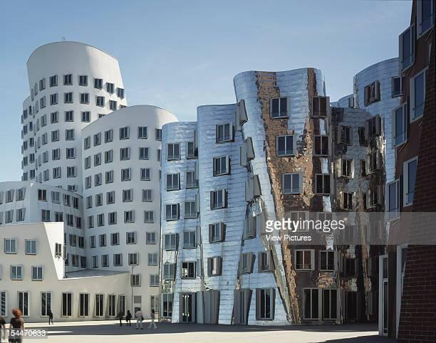 De Neue Zollhof [New Customs House] Dusseldorf Germany Architect Frank Gehry De Neue Zollhof View Of Three Buildings