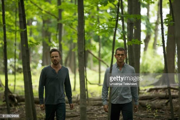 THE PATH 'De Rerum Natura' Episode 304 Pictured Aaron Paul as Eddie Lane Hugh Dancy as Cal Roberts