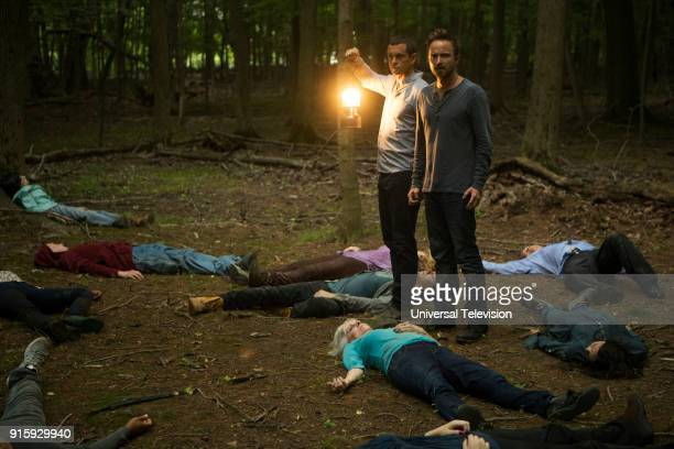 THE PATH 'De Rerum Natura' Episode 304 Pictured Hugh Dancy as Cal Roberts Aaron Paul as Eddie Lane