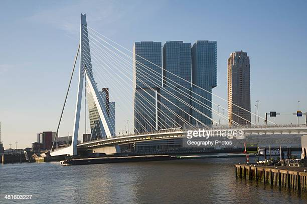 De Rotterdam building designed by architect Rem Koolhaas as a vertical city nears completion in August 2013 at Wilhelminapier Rotterdam Netherlands