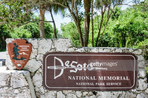 De Soto National Memorial entrance sign