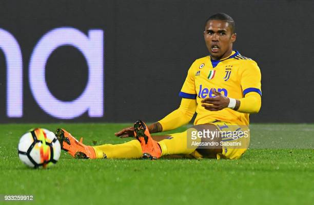 De Suoza Douglas Costa of Juventus reacts during the serie A match between Spal and Juventus at Stadio Paolo Mazza on March 17 2018 in Ferrara Italy