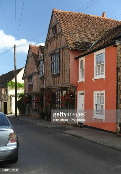 De Vere House in Lavenham Suffolk which has also been known as the de Vere Hunting Lodge Oxford House and Oxford Cottages over the years which was...