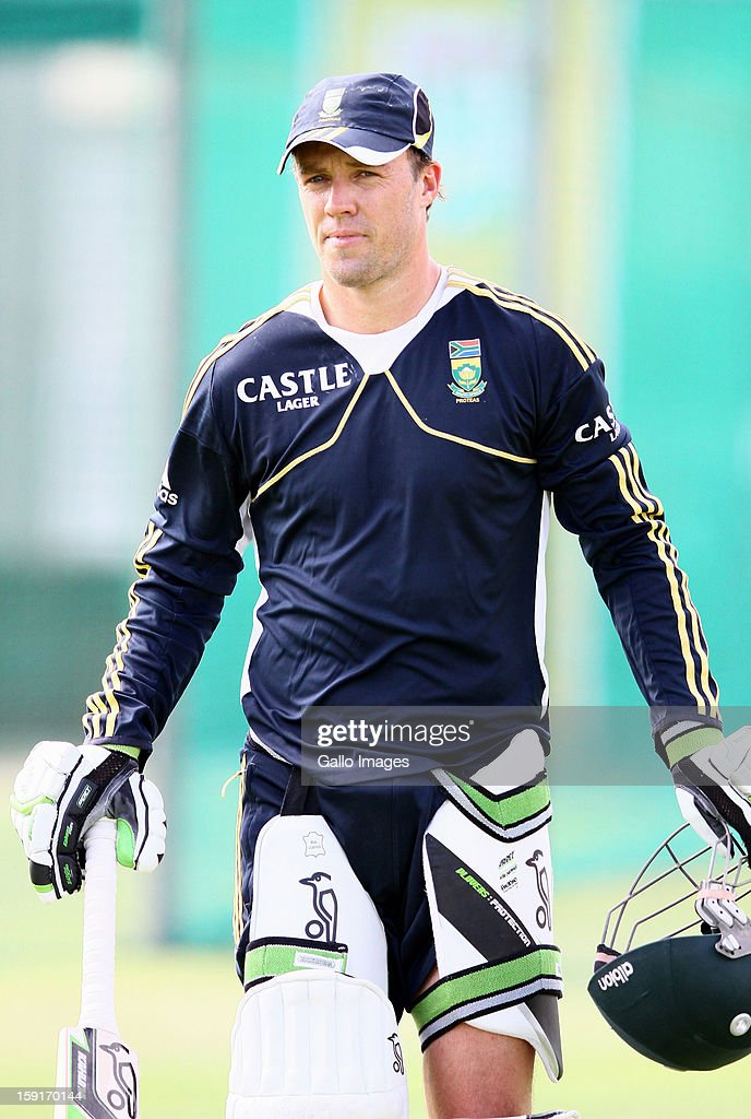 AB de Villiers during the South African national cricket team training session at Axxess St Georges on January 09, 2013 in Port Elizabeth, South Africa.