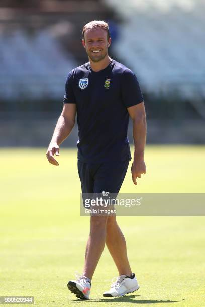 AB de Villiers during the South African national cricket team training session at PPC Newlands on January 02 2018 in Cape Town South Africa