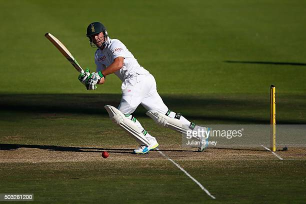 AB de Villiers of South Africa bats during day two of the 2nd Test at Newlands Stadium on January 3 2016 in Cape Town South Africa