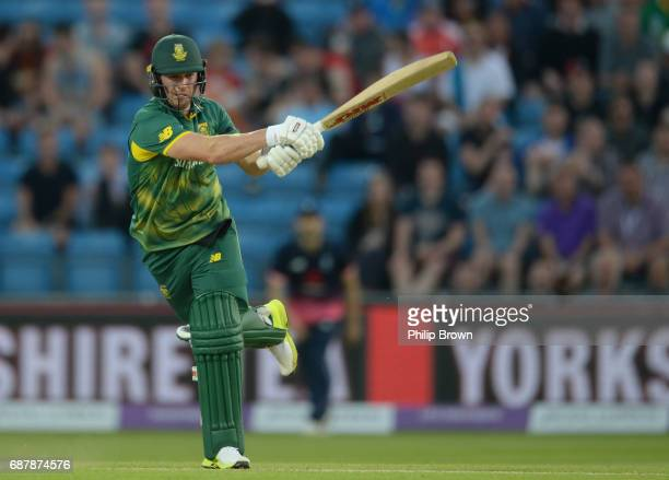 AB de Villiers of South Africa bats during the 1st Royal London oneday international cricket match between England and South Africa at Headingley...