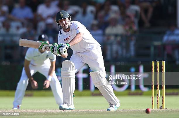 AB de Villiers of South Africa during day 2 of the 2nd Test match between South Africa and England at PPC Newlands on January 03 2016 in Cape Town...