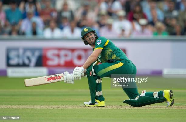 AB de Villiers of South Africa during the 2nd Royal London ODI between England and South Africa at the Ageas Bowl on May 28 2017 in Southampton...