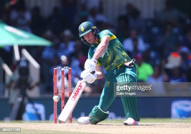 AB de Villiers of South Africa during the 3rd Momentum ODI match between South Africa and Bangladesh at Buffalo Park on October 22 2017 in East...