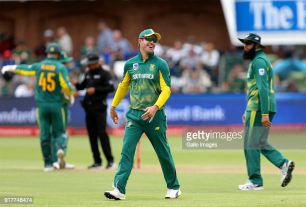 AB de Villiers of South Africa during the 5th Momentum ODI match between South Africa and India at St Georges Park on February 13 2018 in Port...