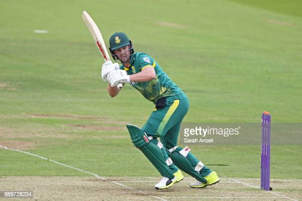 AB de Villiers of South Africa hits out during the 3rd One Day International at Lord's Cricket Ground on May 29 2017 in London England