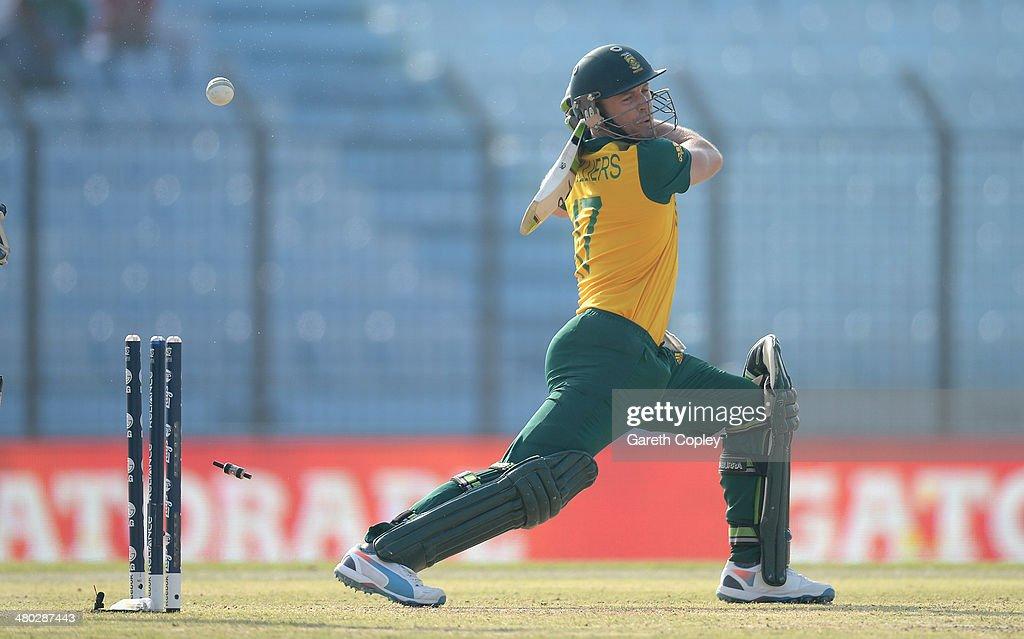 New Zealand v South Africa - ICC World Twenty20 Bangladesh 2014 : News Photo