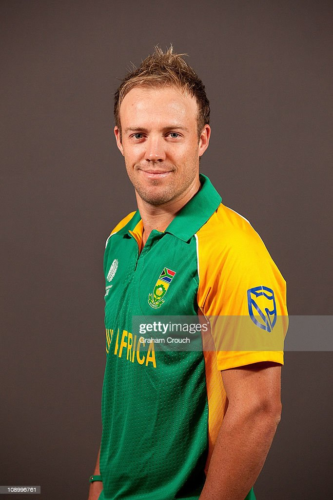 A.B de Villiers of South Africa poses during a portrait session ahead of the 2011 ICC World Cup at the Sheraton Hotel and Towers on February 11, 2011 in Chennai, India.