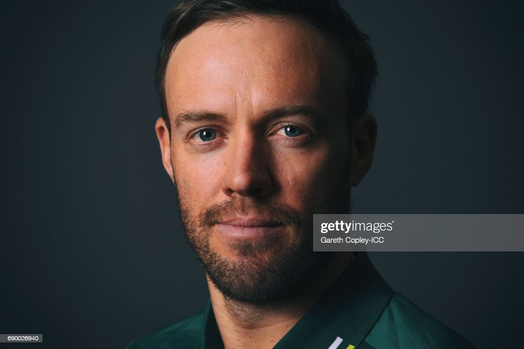 AB de Villiers of South Africa poses for a portrait at Royal Garden Hotel on May 30, 2017 in London, England.