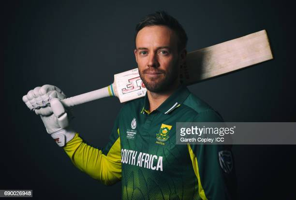 AB de Villiers of South Africa poses for a portrait at Royal Garden Hotel on May 30 2017 in London England