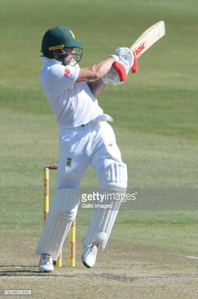 AB de Villiers of the Proteas during day 2 of the 1st Sunfoil Test match between South Africa and Australia at Sahara Stadium Kingsmead on March 02...