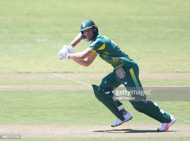AB de Villiers of the Proteas during the 2nd Momentum ODI match between South Africa and Bangladesh at Boland Park on October 18 2017 in Paarl South...