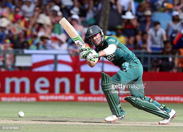 AB de Villiers of the Proteas during the 5th Momentum ODI Series match between South Africa and England at PPC Newlands on February 14 2016 in Cape...