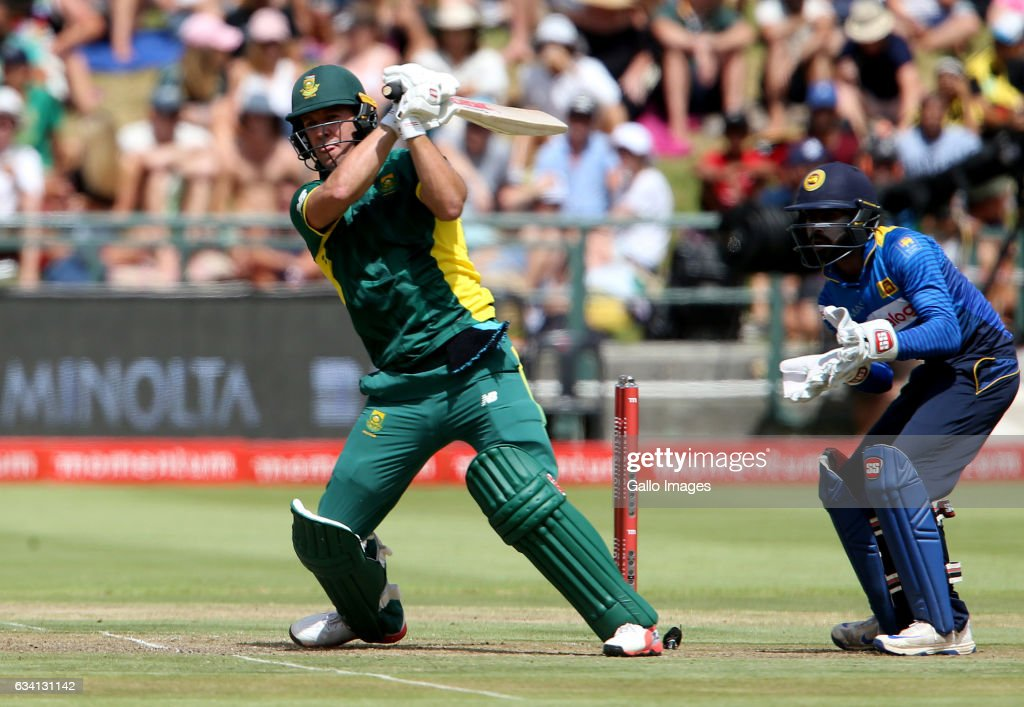 AB de Villiers of the Proteas in action during the 4th ODI between South Africa and Sri Lanka at PPC Newlands on February 07, 2017 in Cape Town, South Africa.