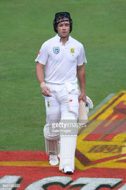 AB de Villiers of the Proteas out for 69 runs during day 1 of the 4th Sunfoil Test match between South Africa and Australia at Bidvest Wanderers...
