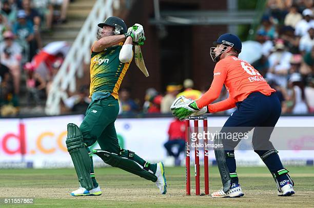 AB de Villiers of the South Africa in action during the 2nd T20 International match between South African and England at Bidvest Wanderers Stadium on...