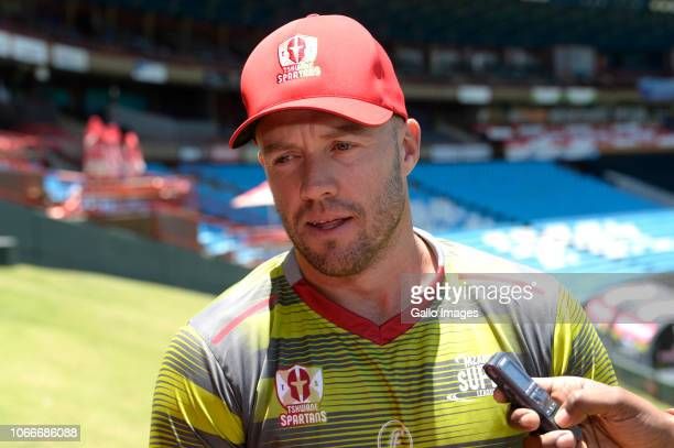 AB de Villiers of the Tshwane Spartans during the Tshwane Spartans Media Opportunity at SuperSport Park on November 30 2018 in Pretoria South Africa
