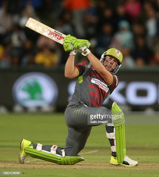 AB de Villiers of Tshwane Spartans during the Mzansi Super League match between Cape Town Blitz and Tshwane Spartans at PPC Newlands on November 16...