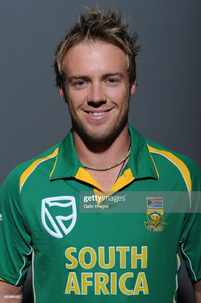 AB de Villiers poses during the South African One Day International team portait session at Grayston Southern Sun on October 20, 2008 in Johannesburg, South Africa.