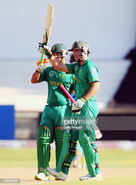 AB de Villiers reaches 50 runs during the 1st One Day International match between South Africa and India at Sahara Stadium Kingsmead on January 12...
