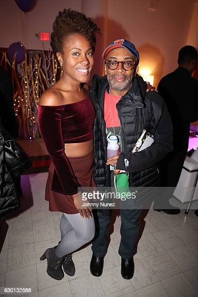 De Wanda Wise and Spike Lee attend the 'She's Gotta Have It' Holiday Throwdown on December 16 2016 in New York City