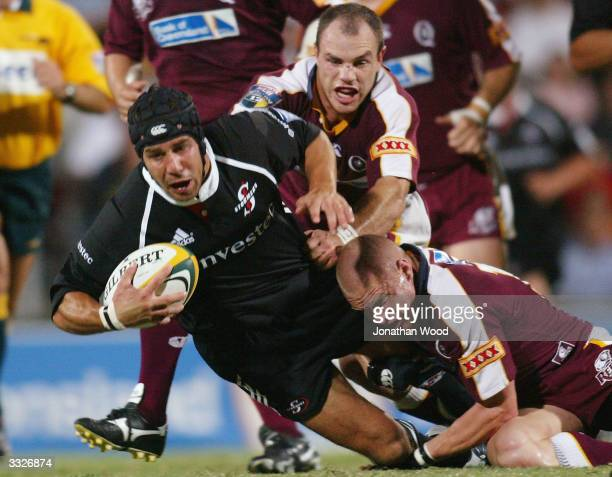 De Wet Barry of the Stormers in action during the Super 12 match between the Queensland Reds and Stormers played at Ballymore Stadium April 10 2004...