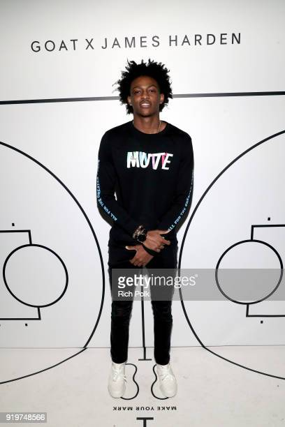 De'Aaron Fox attends GOAT and James Harden Celebrate NBA AllStar Weekend 2018 at Poppy on February 17 2018 in Los Angeles California